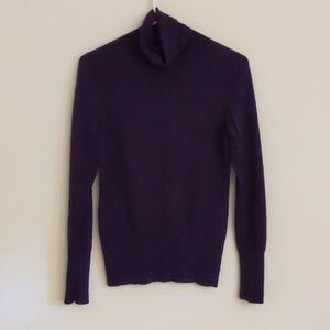 Banana Republic turtle neck sweater (purple, M)